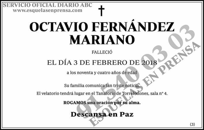 Octavio Fernández Mariano
